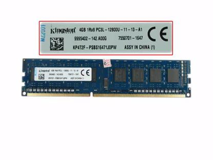 Picture of Kingston ASU16D3LU1KBG/4G Desktop DDR3-1600 4GB, DDR3-1600, PC3-12800, PC3L-12800U, ASU16D3LU1KBG/4G