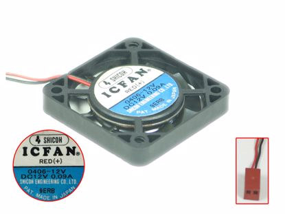 Picture of ICFAN / SHICOH 0406-12V Server - Square Fan sq40x40x06mm, 2-wire, 12V 0.09A