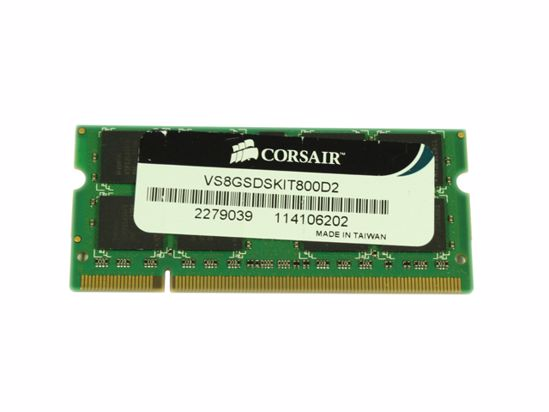 Picture of CORSAIR VS8GSDSK1T800D2 Laptop DDR2-800 4GB, DDR2-800, PC2-6400S, VS8GSDSK1T800D2, Laptop