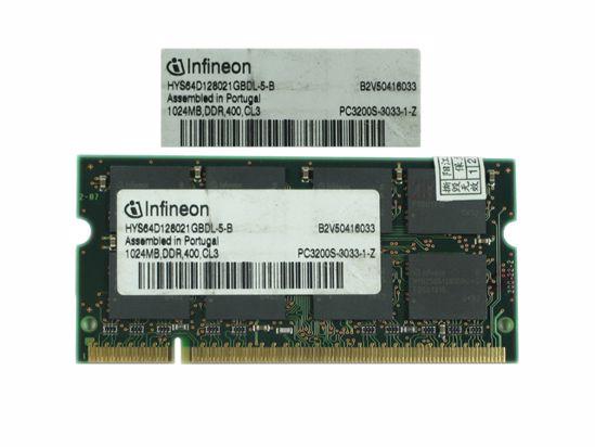 Picture of Infineon HYS64D128021GBDL-5-B  Laptop  1GB, DDR-400, PC3200S,  HYS64D128021GBDL-5-B , Lapt