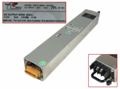 Picture of EMACS / Zippy DM1U-2650V Server - Power Supply DM1U-2650V (ROHS), B00DM1U65D001