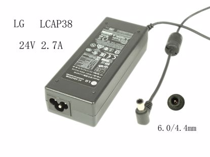 Picture of LG Common Item (LG) AC Adapter 20V & Above 24V 2.7A, 6.0/4.3mm W/Pin, 3-Prong