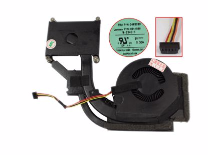 Picture of Lenovo ThinkPad T440p Series Cooling Fan ,5V 0.30A Heatsink, W40x4x5xP