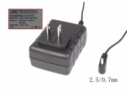 Picture of APD / Asian Power Devices WA-24K12FU AC Adapter 5V-12V WA-24K12FU