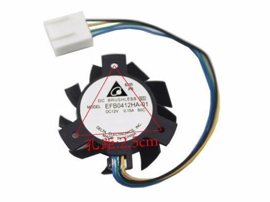 Picture of Delta Electronics EFB0412HA-01 Server-Frameless / GPU Fan EFB0412HA-01, B5C