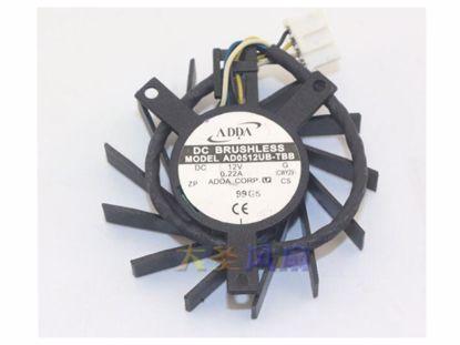 Picture of ADDA AD0512UB-TBB Server-Frameless / GPU Fan AD0512UB-TBB, Black